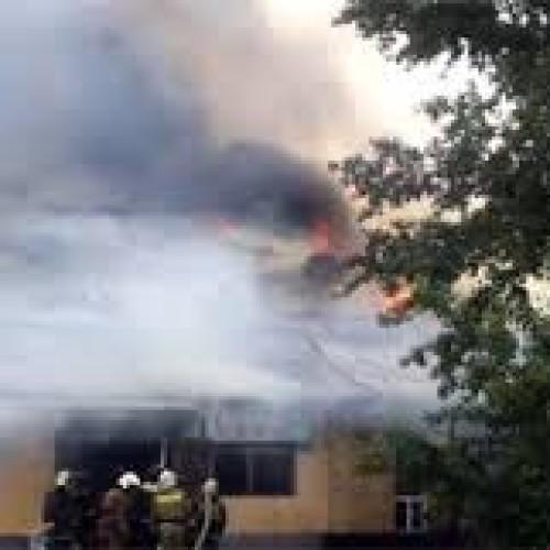Два кафе сгорели в Шымкенте утром