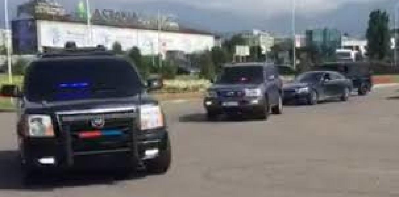 В южной столице сняли кортеж из «крутых» автомобилей