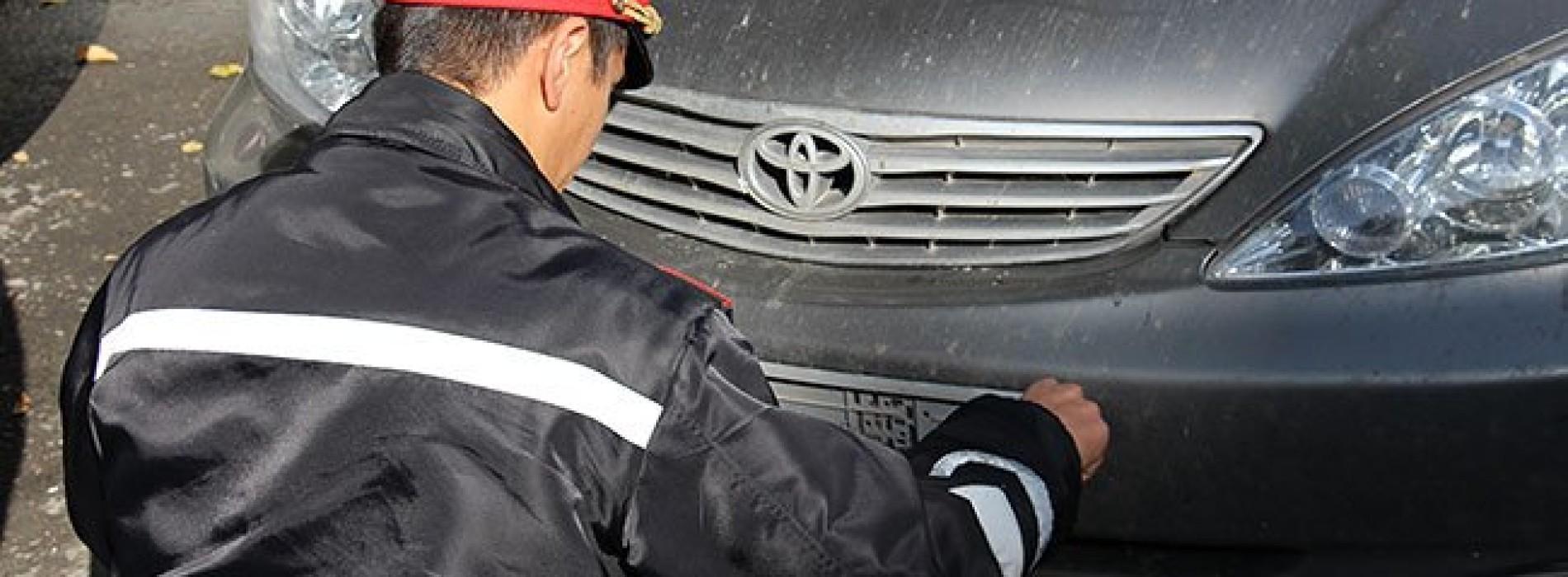 Автомобиль с подложными номерами КНБ разъезжал по Алматы