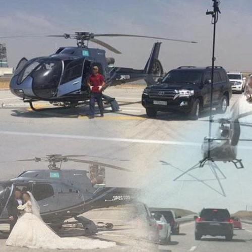 Участников свадебного кортежа с вертолётом в Южном Казахстане привлекли к ответственности
