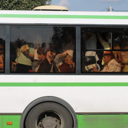 Алматинцы недовольны переполненным общественным транспортом