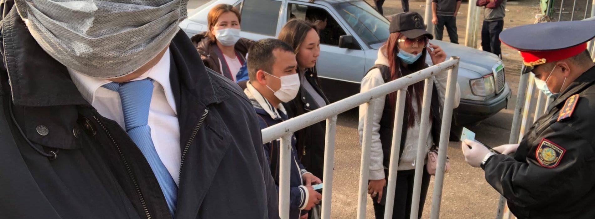Антикоррупционная служба города Алматы провела рейд выставленных блок-постов